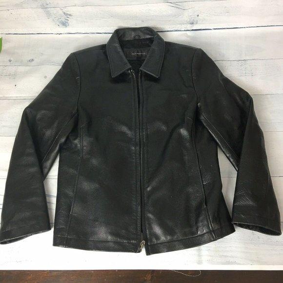 Jim & Marylou Motorcycle Biker Leather Coat Jacket